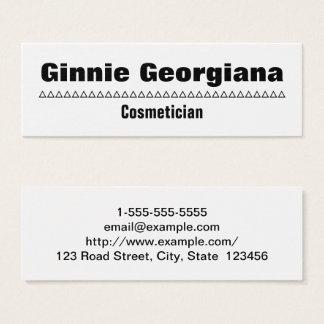 Carte de visite simple et audacieux de Cosmetician