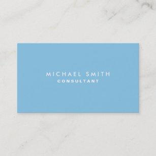 Carte De Visite Simple Moderne Lgant Professionnel Bleu