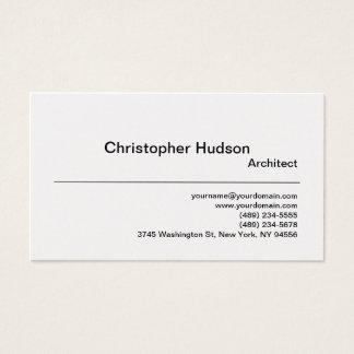 Carte de visite simple simple d'architecte d'or