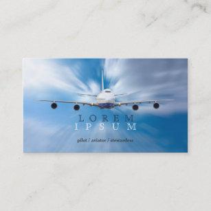 Carte De Visite Transport Pilote Ciel Davion Dhotesse