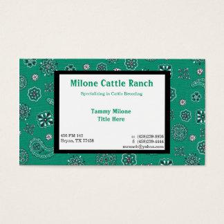 Carte de visite turquoise de Bandana