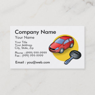Carte De Visite Vendeur Automobile