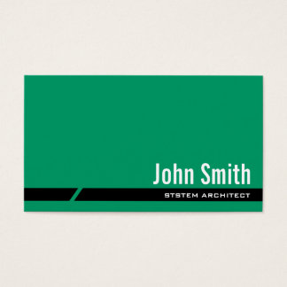 Carte de visite vert simple d'architecte de