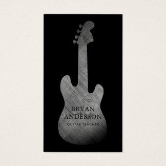 Carte de visite vintage de guitare électrique