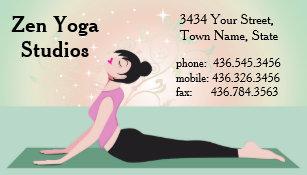 Carte De Visite Yoga Zen