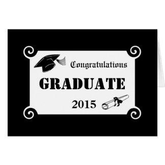 Carte de voeux 2015 faite sur commande de diplômé