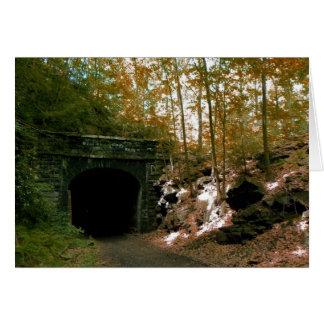 Carte de voeux abandonnée du tunnel #2 de rr
