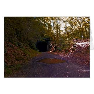 Carte de voeux abandonnée du tunnel #3 de rr