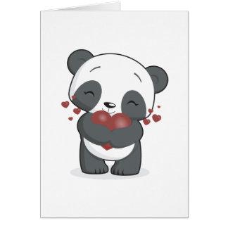 Carte de voeux affectueuse de panda