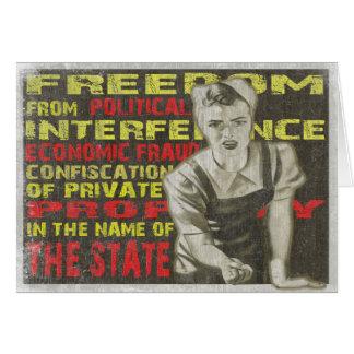 Carte de voeux avec la copie de liberté