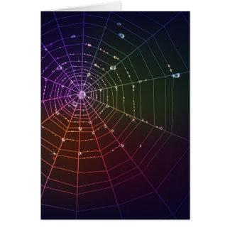 Carte de voeux avec la ligne d'araignée