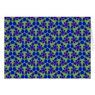 Carte de voeux avec le rouge bleu et le vert
