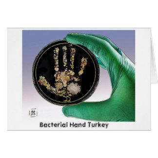 Carte de voeux bactérienne de la Turquie de main
