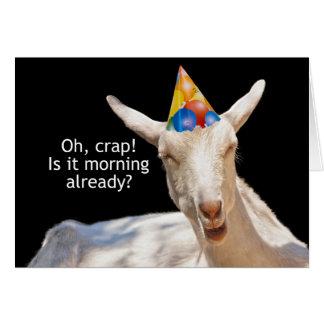 Carte de voeux calme de chèvre 3