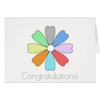 Carte de voeux chanceuse de fleur de félicitations
