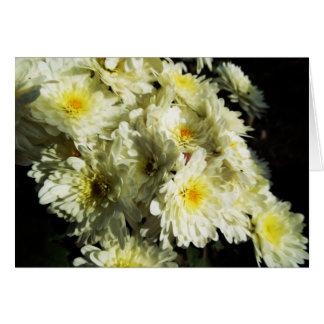 Carte de voeux Chute-Orientée - chrysanthèmes