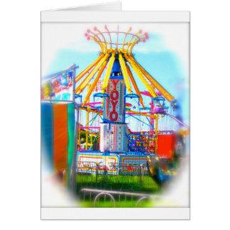 Carte de voeux colorée de carnaval