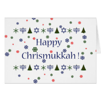 Carte Carte de voeux combinée de Hanoukka de Noël