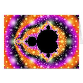 Carte de voeux cosmique de fruit de Mandelbrot de