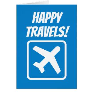 Carte de voeux d'adieu heureuse de voyages au