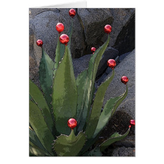 Carte de voeux d'agave de vacances