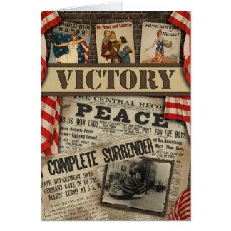 """Carte de voeux d'album à """"victoire"""" de WWI"""
