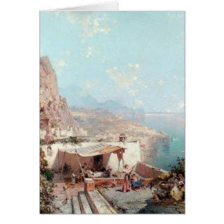 Carte de voeux d'Amalfi d'Unterberger