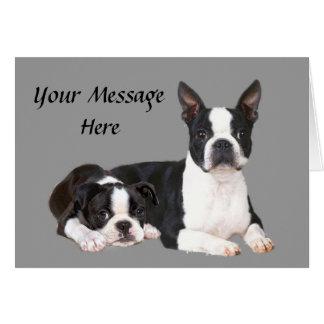Carte de voeux d'amis de Boston Terrier