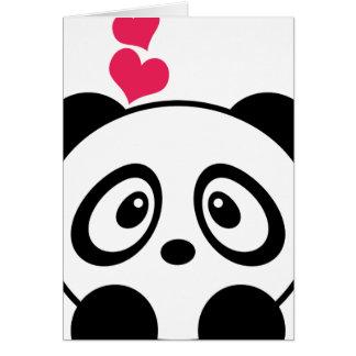 Carte de voeux d'amour de panda