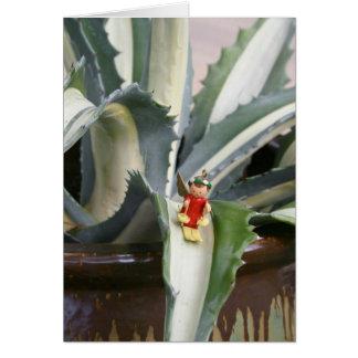 Carte de voeux d'ange d'agave