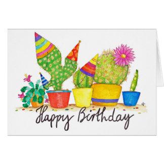 Carte de voeux d'anniversaire de cactus par Nicole