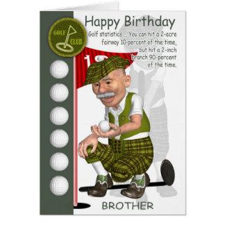 Carte de voeux d'anniversaire de golfeur de beau-f