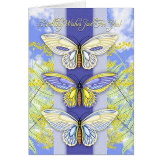 carte de voeux d'anniversaire de papillon et de