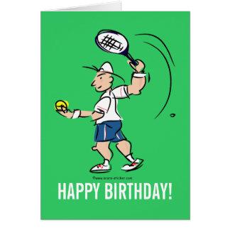 Carte de voeux d'anniversaire pour le joueur de