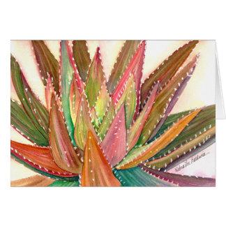 Carte de voeux d'aquarelle d'aloès par Debra Lee