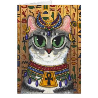Carte de voeux d'art de chat de Bastet