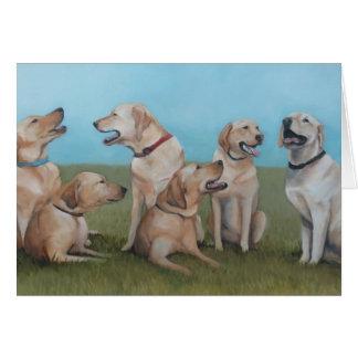 Carte de voeux d'art de chien de labrador