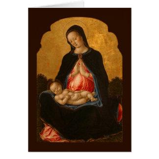 Carte de voeux d'art de Madonna et d'enfant