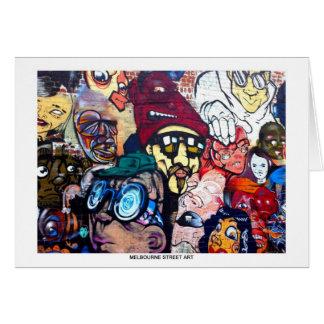 Carte de voeux d'art de rue de Melbourne