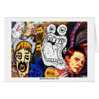 Carte de voeux d'art/graffiti de rue de Melbourne