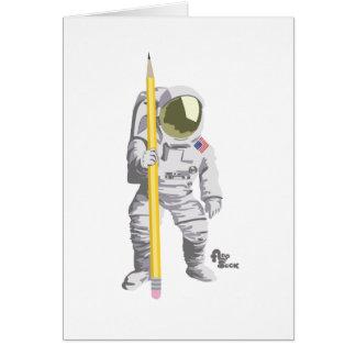 Carte de voeux d'astronaute