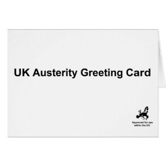 Carte de voeux d'austérité