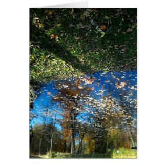 Carte de voeux d'automne de miroir de Miroir