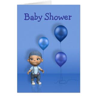 Carte de voeux de baby shower de ballons de bébé