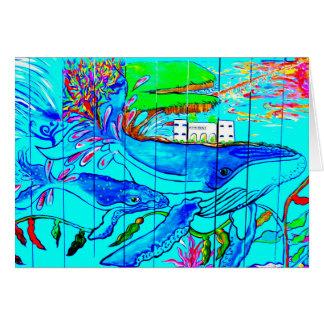 carte de voeux de baleines de bosse