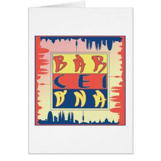 Carte de voeux de Barcelone, enveloppes blanches