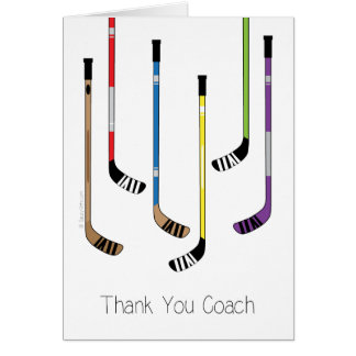 Carte de voeux de bâtons de hockey de car d'hockey