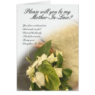 Carte de voeux de belle-mère, vous serez ma mère