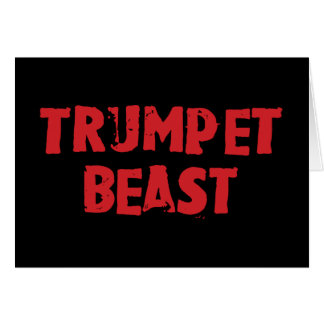 Carte de voeux de bête de trompette