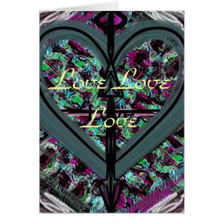 Carte de voeux de blanc d'amour d'amour d'amour